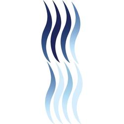 KLEINE WOLKE Selbstklebefolie Wave, für Badezimmer- und Duschtrennwände blau 68 cm