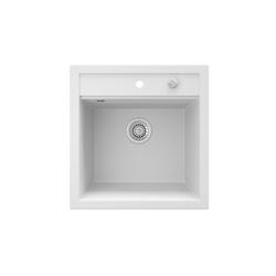 Bergstroem Küchenspüle Bergström Granit Spüle Einbauspüle Spülbecken 490x500mm Weiß