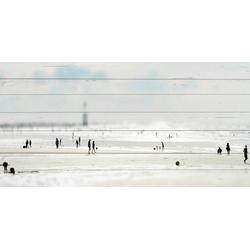 queence Holzbild Miniatur Strand, 40x80 cm