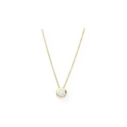 JuwelmaLux Collier Collier 585/000 (14 Karat) Gold mit Brillant