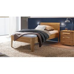 Kernbuche-Bett in 100x200 cm mit Komforthöhe - Baleira