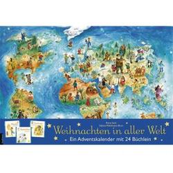 Adventskalender mit 24 Büchlein, Weihnachten in aller Welt