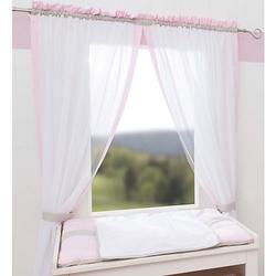 Vorhang Kleine Prinzessin, rosa, 240 x 100 cm (2 Schals)