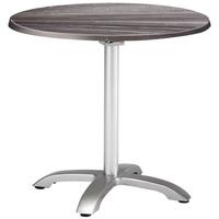 BEST Freizeitmöbel Maestro Klapptisch 90 x 73 cm silber/Tempera