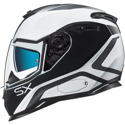 Nexx SX.100 Popup Helm, schwarz-weiss, Größe S