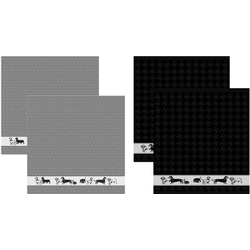 DDDDD Geschirrtuch Saar, (Set, 4-tlg), Combiset: 2 Küchentücher & 2 Geschirrtücher
