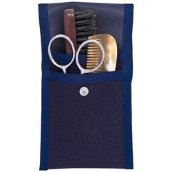 Plisson Bart- und Schnurrbart-Set: Kamm, Bürste und Schere