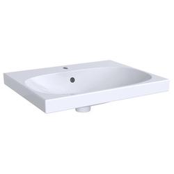 Geberit Waschtisch ACANTO 600 x 482 mm, mit Hahnloch, mit Überlauf weiß