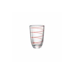 montana-Glas Glas Montana JOLLY Trinkglas rot 430 ml 1-tlg., Glas