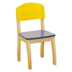 roba Stuhl Gelb/Blau, für Kinder bunt Holzspielzeug