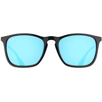 0RB4187 black-gunmetal / blue flash