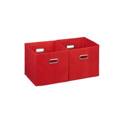 relaxdays Aufbewahrungsbox Aufbewahrungsbox Stoff 2er Set rot