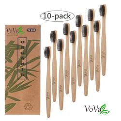 Gotui Zahnbürste Bambus Zahnbürste, Weiche Zahnbürsten (10 Stücke/Set)