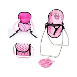 Bayer Puppen Accessoires-Set Puppen-Zubehör Set, grau - Puppenbett, rosa