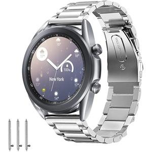 Aimtel Armband Kompatibel mit Samsung Galaxy Watch 3 41mm Armband, Edelstahl Metall Ersatzarmband Uhrenarmband Armbänder Kompatibel für Samsung Galaxy Watch3 41mm (Silber)