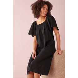 Next Nachthemd Nachthemd aus Baumwolle schwarz 44