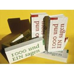 1000 und EIN Sagen als Buch von Manfred Seehofer