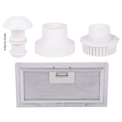 Abluft Set 4-teilig mit Dachschornstein, Ventilator, Adapter, Filter