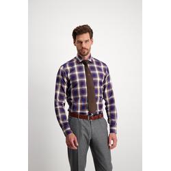 Lavard Herrenhemd mit Karo-Muster Lavard Gold 93171