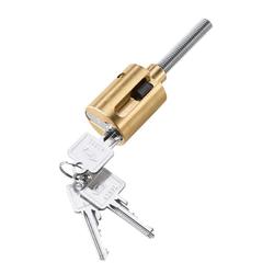 Zarges Stahlprofil-Zylinderschloss zur Einbruchsicherung inkl. 3 Schlüssel