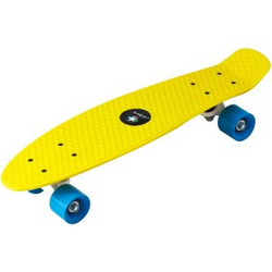 PP Skateboard 22''x5 7/8'' ABEC5, PVC 55x45mm wheel gelb