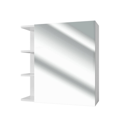 Vicco Badezimmerspiegelschrank Badspiegel FYNN 62 x 64 cm weiß - Spiegel Spiegelschrank Wandspiegel