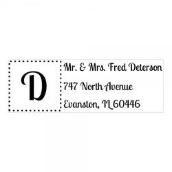 Monogrammstempel - Adresse mit gerahmten Initialen - Trodat 4915