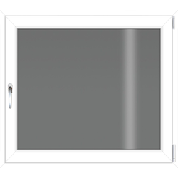 RORO Türen & Fenster Kellerfenster, BxH: 60x50 cm, ohne Griff