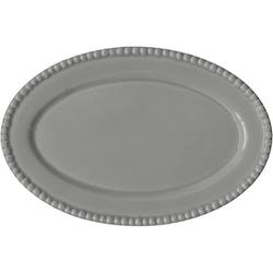 PotteryJo DARIA Ovale Platte Grau 35 cm