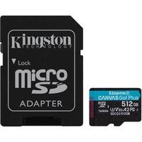 Kingston microSDXC Canvas Go! Plus 512GB Class 10 UHS-I A2 V30 + SD-Adapter