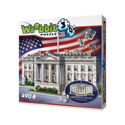 Wrebbit 3D-Puzzle Wrebbit 3D Puzzle 490 Teile The White House -, Puzzleteile