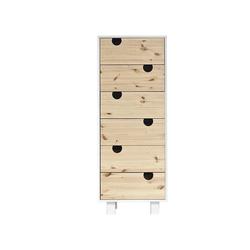 Karup Design Kommode Karup Design HOUSE Kommode mit 6 Schubladen, Weiß/