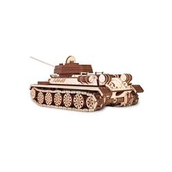Eco Wood Art 3D-Puzzle T-34-85 – Panzer – mechanischer Modellbausatz aus Holz, Puzzleteile