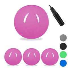 4 x Gymnastikball 75 cm, Sitzball Büro groß Ball Schwangerschaft pink Yogaball