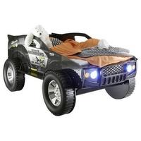 Livetastic Autobett Jeep schwarz