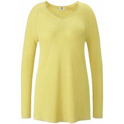 Pullover V-Pullover Anna Aura gelb-metallic