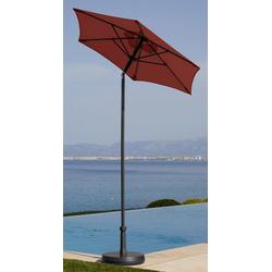 garten gut Sonnenschirm Push up Schirm Rom, abknickbar, ohne Schirmständer rot
