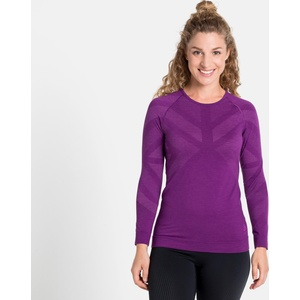 Odlo Women's Natural + Kinship Warm Long-sleeve Base Layer charisma melange (30688) XS