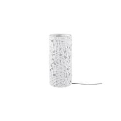 HTI-Living Tischleuchte Lampe Strick Porzellan Lampe Strick Porzellan