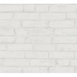 living walls Vliestapete Elements, Steinoptik, Backstein weiß