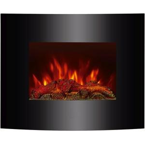 El Fuego Aarau Elektrokamin mit täuschend echtem Flammeneffekt, zur Wandmontage geeignet, 1800 W, 230 V