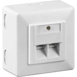 Goobay Netzwerkdose Aufputz CAT 6 2 Port Weiß