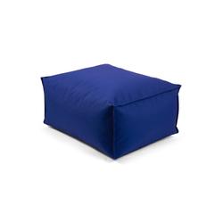 mokebo Pouf Der Ruhepouf, Outdoor Sitzkissen, Sitzhocker & Sitzpouf, in rund o. eckig & vielen Farben blau 65 cm x 35 cm x 50 cm