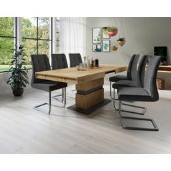 Homexperts Säulen-Esstisch Marley Az, ausziehbar, in 2 Größen (140 + 160) braun Esstische rechteckig Tische