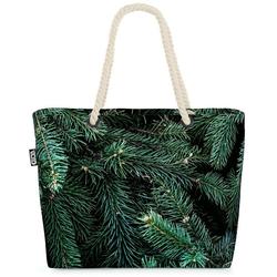 VOID Strandtasche (1-tlg), Wald Winter Tannenbaum Beach Bag Tannenzweig Tanne Tannenbaum Pflanzen Baum Chr