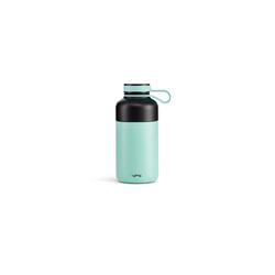 LEKUE Trinkflasche Edelstahl-Trinkflasche blau 300 ml