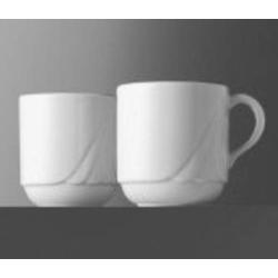Kaffeebecher AMBIENTE (1 Stück), Inhalt 0,26 ltr., uni weiß, Eschenbach