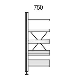 Kerkmann Bibliotheks-Regal Libra B 750 x H 1930 mm Buche