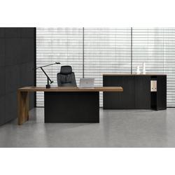 neu.haus Schreibtisch (Set, 3er Set), Gent Chefzimmer Set mit 2 Aktenschränken Büromöbel
