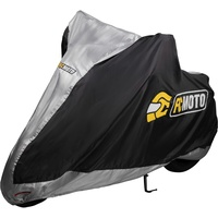 FC-Moto Basic Motorrad Abdeckplane, schwarz, Größe S